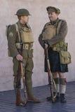 WWI英国陆军战士休息 图库摄影