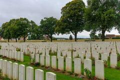WWI cemetery near Longueval stock image