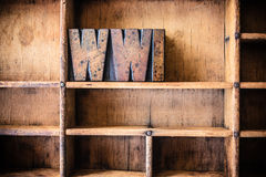 WWI Concept Wooden Letterpress Theme Royalty Free Stock Photos