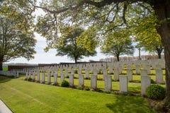 WWI-kyrkogård i Frankrike Arkivfoto