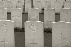 WWI military cemetery in Flanders, Belgium Royalty Free Stock Image