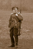 WWI Russian Female, Woman Soldier Stock Photo