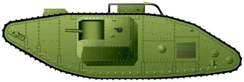 WWI tank British Mark V Royalty Free Stock Photo