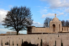 WWI Tyne Cot Cemetery op de Gebieden van Vlaanderen, België stock foto