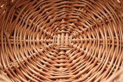 Wwicker basketry Royalty Free Stock Image