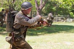 WWII争斗再制定 免版税库存照片