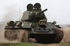 WWII争斗的再制定在Orechov的 库存图片