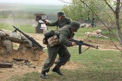 WWII争斗的再制定在Orechov的 免版税图库摄影
