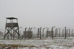 WWII囚犯阵营在奥斯威辛在波兰 免版税库存照片