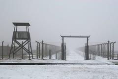 WWII囚犯阵营在奥斯威辛在波兰 免版税图库摄影