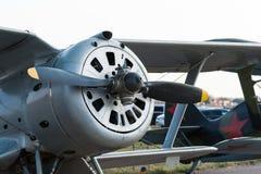 WWII苏维埃前Polikarpov I-15战斗机 库存图片