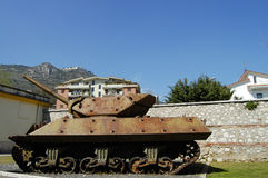 WWII δεξαμενή - Monte Cassino - Ιταλία Στοκ Φωτογραφίες