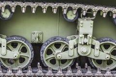 WWII λεπτομέρεια μηχανισμών Drive του Stuart Caterpillar δεξαμενών αμερικάνικου στρατού Στοκ εικόνες με δικαίωμα ελεύθερης χρήσης