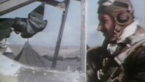 WWII Air Force – Aircraft start at Aleutians stock footage