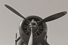 WWII Aircraft. Nostalgic WWII aircraft from the 1940s stock images