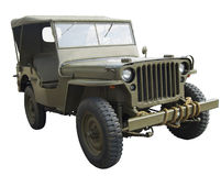 WWII american Jeep near side view. WWII American army GI jeep royalty free stock photos