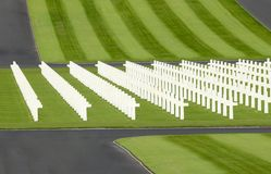 WWII american military cemetery Royalty Free Stock Photography