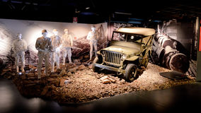 WWII Army Jeep at Museo Nazionale dell'Automobile Stock Images