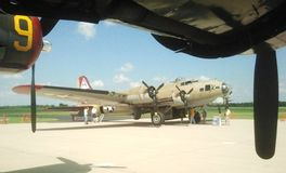 A WWII B-17 bomber on display Stock Photo
