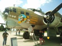 WWII B-17 bombowiec na pokazie fotografia stock