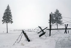 WWII barbwire defences Stock Photography