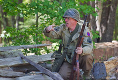 WWII Battle Reenactment Royalty Free Stock Images