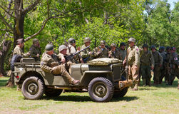 WWII Battle Reenactment Stock Photos