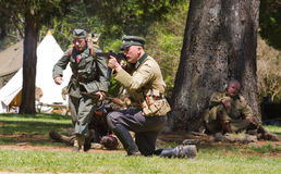 WWII Battle Reenactment Stock Photography