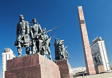 WWII blockade monument in Saint Petersburg, Russia Royalty Free Stock Images