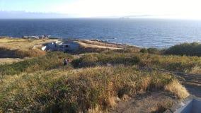 WWII-bröstvärn på kusten Royaltyfria Foton