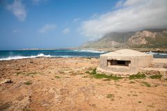 WWII Bunker, Sicily Stock Photography