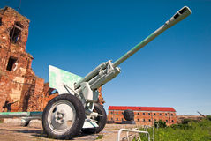 WWII cannon Royalty Free Stock Photography