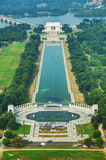 Авраам Линкольн и мемориал WWII в Вашингтоне, DC Стоковое Изображение RF