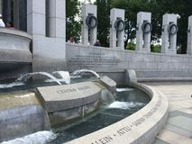 WWII-Denkmal im Washington DC Stockfoto