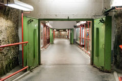 WWII era blast door in a former Salzburg bomb shelter Stock Photo