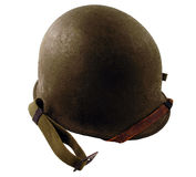 WWII Era Helmet. A WWII Era helmet isolated on a white background royalty free stock photo