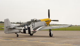 WWII fighter aircraft. Antique World War II US fighter aircraft.  P-51 Mustang Stock Image