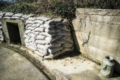 German battery in Maisy, Normandy Stock Image