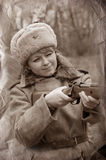 WWII girl soldier Royalty Free Stock Photos