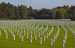 WWII, Henri-Chapelle American Cemeter, Bélgica Fotografia de Stock