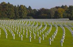 WWII Henri-Chapelle American Cemeter, Belgien Arkivbild