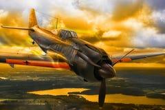 WWII japończyk Mitsubishi Zero samolotów szturmowych Zdjęcie Royalty Free
