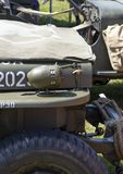 WWII Jeep close-up of side bonnet showing side light royalty free stock images