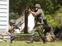 WWII-Kampf-Wiederinkraftsetzung Lizenzfreies Stockbild