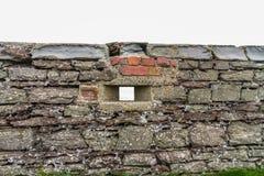 WWII Loopholed τοίχος στοκ φωτογραφία με δικαίωμα ελεύθερης χρήσης