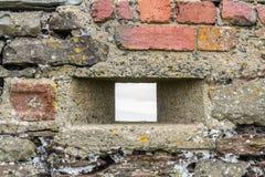 WWII Loopholed τοίχος στοκ εικόνες