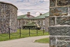 WWII M4谢尔曼坦克 库存图片
