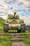 WWII M4 Sherman Tank arkivfoto