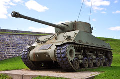 WWII Tank at La Citadelle in Quebec City, Canada. WWII M4 Sherman Tank at La Citadelle in Quebec City, Quebec, Canada royalty free stock photo