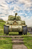WWII M4 Sherman Tank. At La Citadelle in Quebec City, Quebec, Canada stock photo